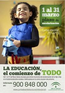 Cartel informativo sobre Escolarización