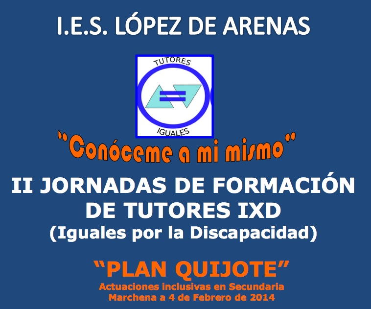 Cartel Jornadas Plan Quijote